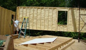 Picture of a Panelized Home Open Wall